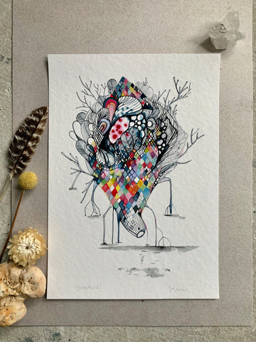 'Creature' giclee print in A3, A4 or a5