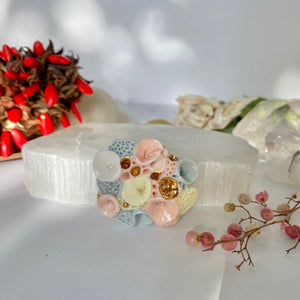 Porcelain 'rock coral' brooch