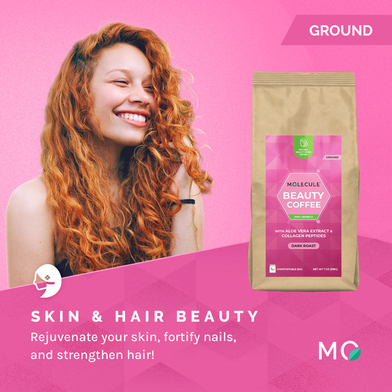 Beauty Ground Coffee with Collagen Peptides and ACTIValoe® Aloe Vera extract