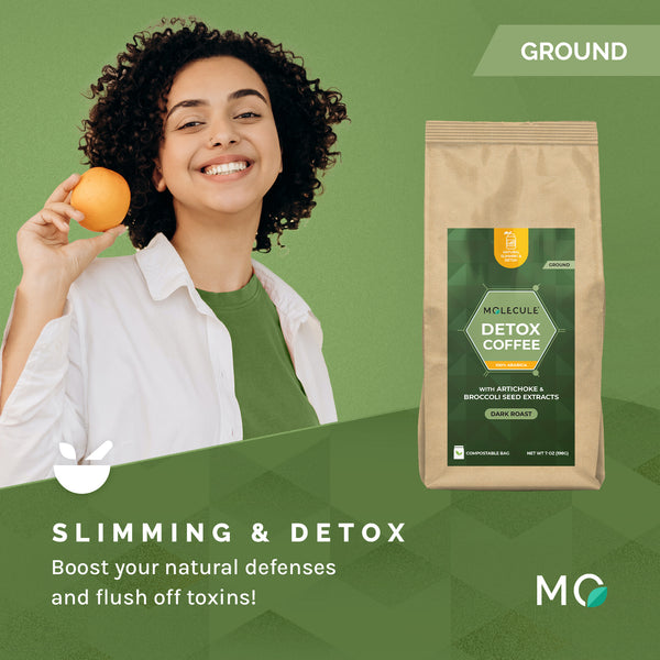 Detox Ground Coffee with extra pure Artichoke and Broccoli seed extracts