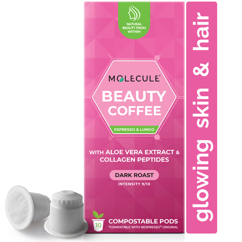 Beauty Nespresso Coffee pods with Collagen Peptides and Aloe Vera