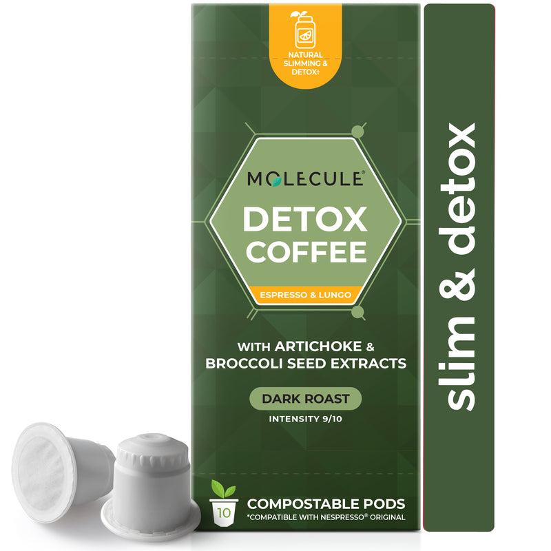 Detox Coffee Nespresso pods with extra pure Artichoke and Broccoli seed extracts