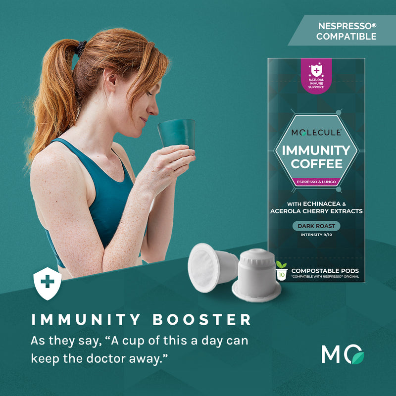 Immunity Coffee Nespresso pods with Echinacea & Acerola Cherry Extracts