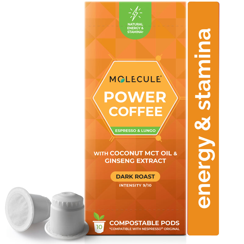 Power Coffee Nespresso pods with Ginseng Extracts & Coconut MCT Oil