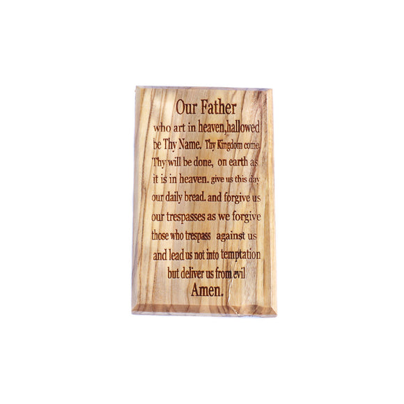 Our father prayer fridge magnet made of olive wood