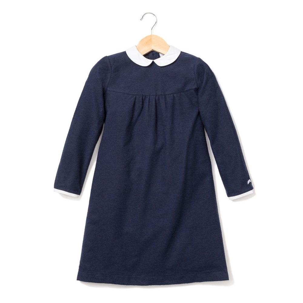 Navy Flannel Vivienne Nightgown
