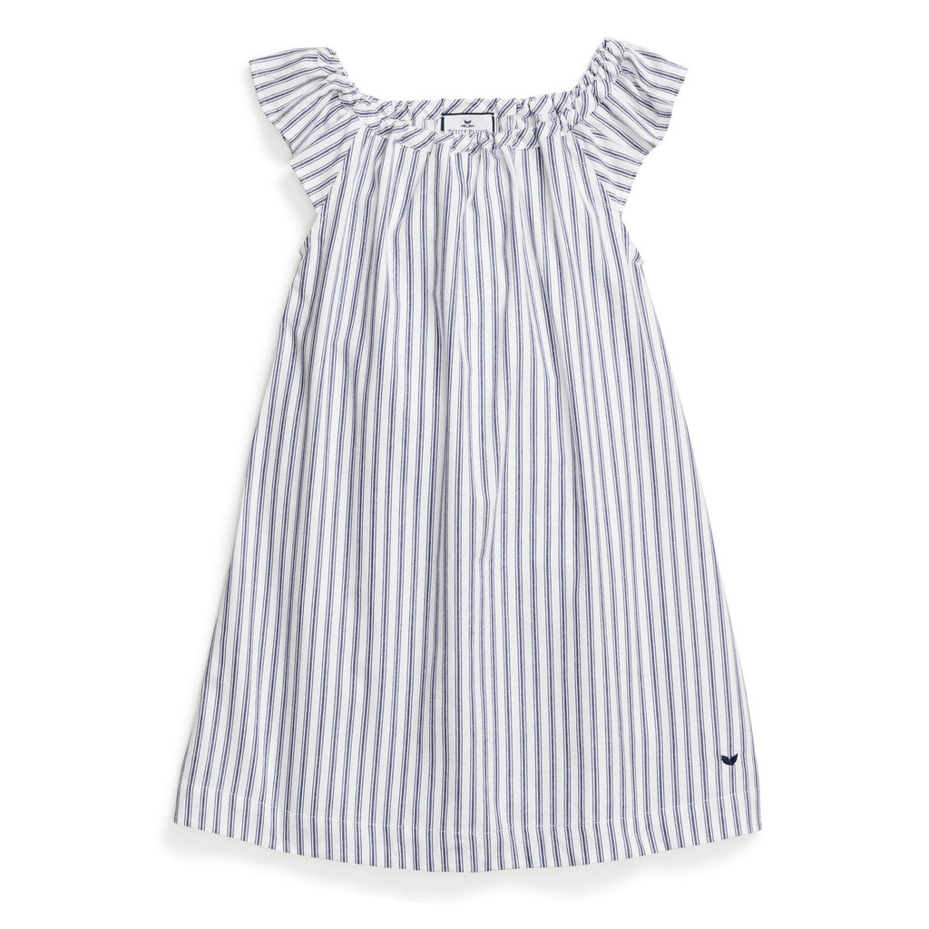 Navy French Ticking Isabelle Nightgown
