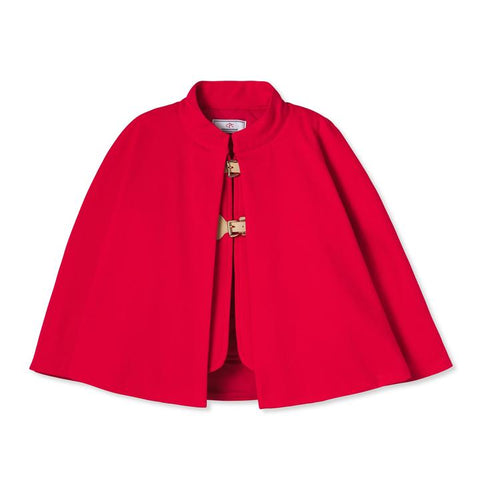 Greenwich Cape, Lipstick Red Ponte