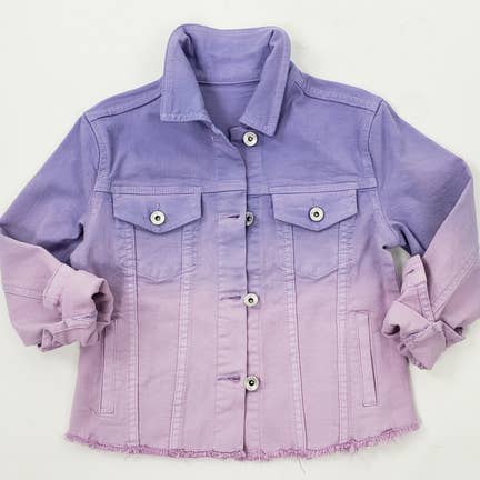 Purple Ombre Denim Jacket