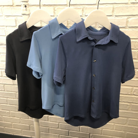 Boys Button Down Polo
