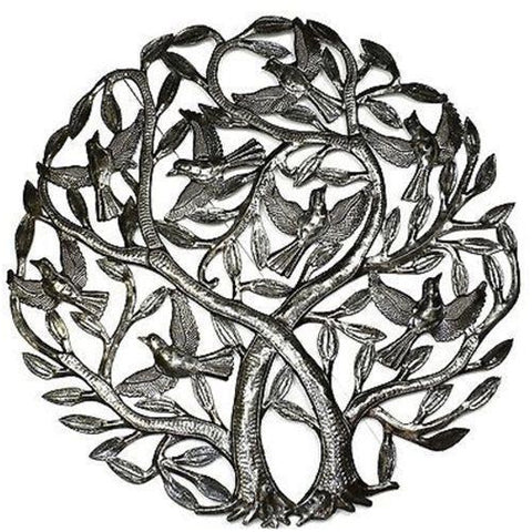 Double Tree of Life Metal Wall Art by Croix des Bouquets