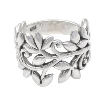 handcrafted rice stalk Fairtrade ring
