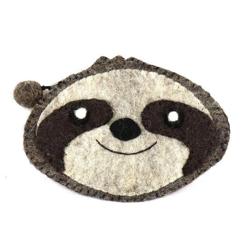 cute sloth coin purse handcrafted