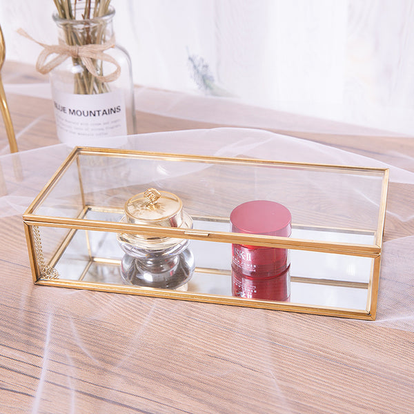 Amelie Glass Beauty Organizer Homecour