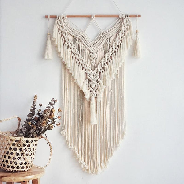 Boho Chic Macrame Wall Hanging Woven Tapestry Homecour