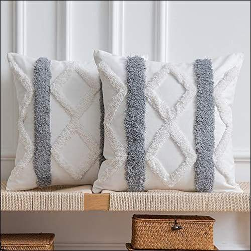Bohemian Woven Tufted 2PC Cushion Cover Set Homecour