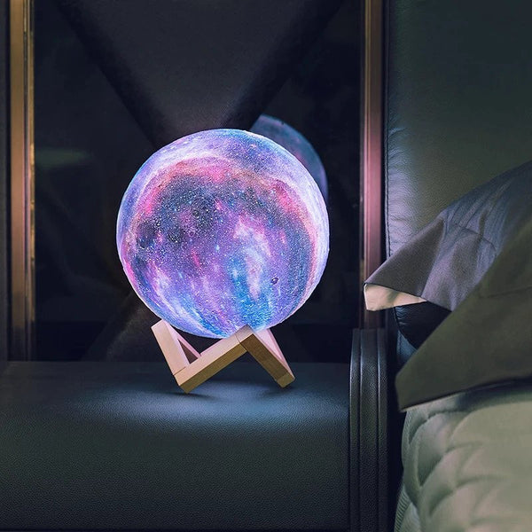 3D Rechargable Galaxy Moon Lamp Homecour