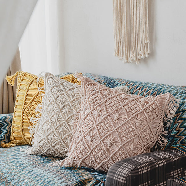 Boho Handmade Macrame Cushion Cover Homecour
