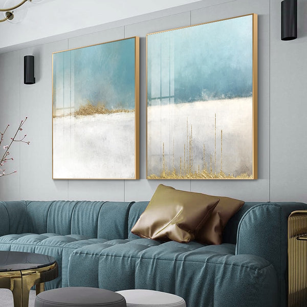 Blue Horizons Abstract Wall Art Canvas Print Homecour