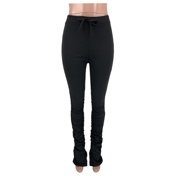 Women High Waist Flare Pants