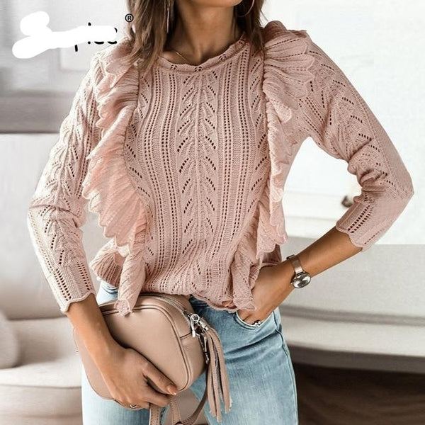 Women Long sleeve Knitted sweater