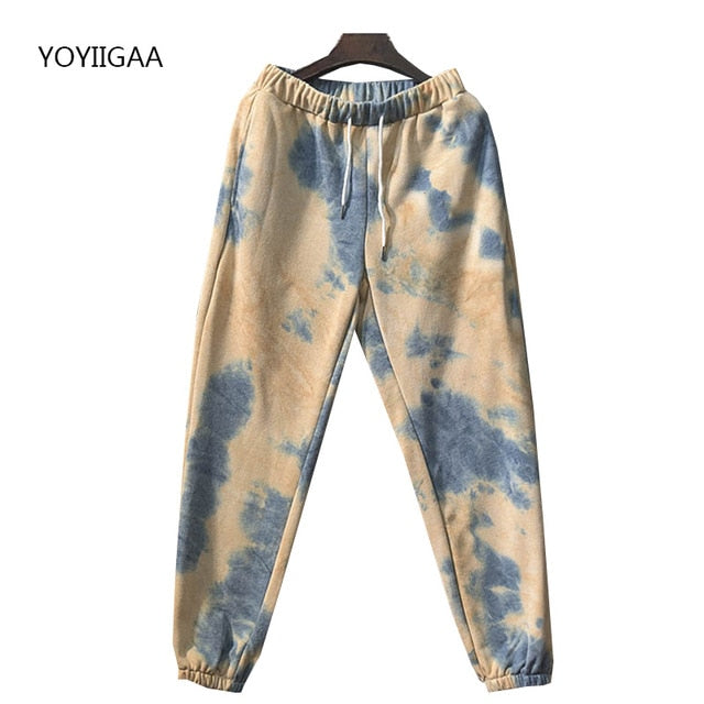 Tie Dye  Hoodies Pants 2 Piece Set