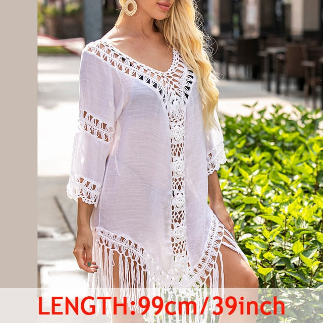 Sexy Tassel Cover Ups Tunic Swimsuit