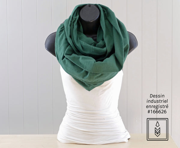 Green flannel scarf for women