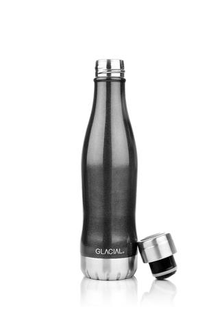 GLACIAL BOTTLE NERO METALLIZZATO