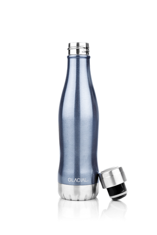 GLACIAL BOTTLE BLU METALLIZZATO