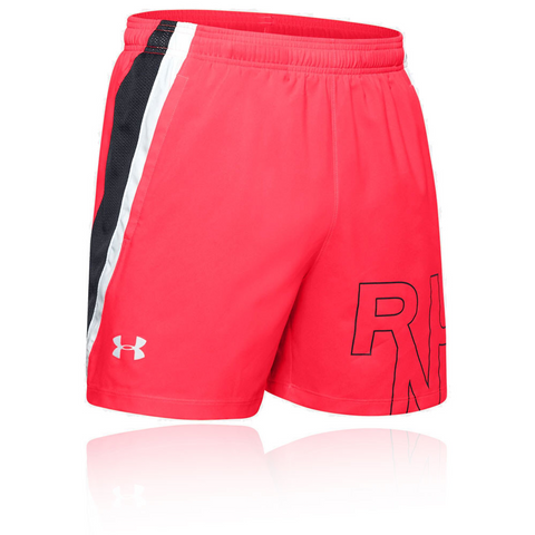 UA SHORT LAUNCH SW 5'' GRAPHIC RED Uomo - Neverland Firenze