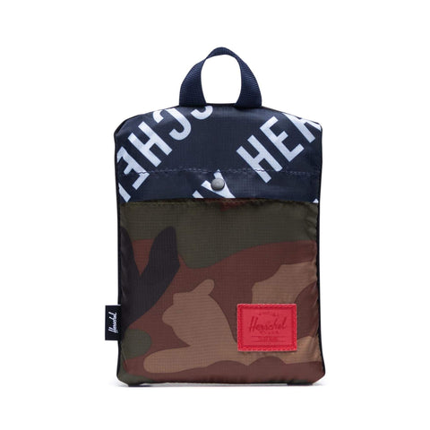 HERSCHEL ZAINO PACKABLE DAYPACK PEACOAT/WOODLAND CAMO - Neverland Firenze
