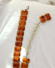 Load image into Gallery viewer, 1970s Amber Tortoiseshell Acrylic Chain Belt