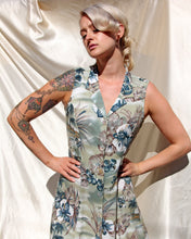 Load image into Gallery viewer, 1980s Sage Tropical Floral Maxi Sundress