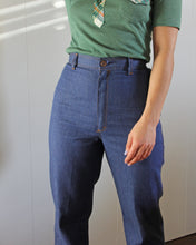 Load image into Gallery viewer, 1970s Sears Ultra High Waisted Flat Front Denim