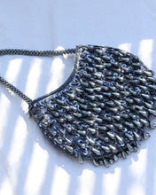 Load image into Gallery viewer, 1970s Slate Blue Beaded Mini Purse
