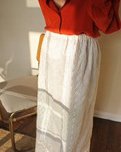 Load image into Gallery viewer, 1980s Anne Klein Ivory Eyelet Embroidered Maxi Skirt