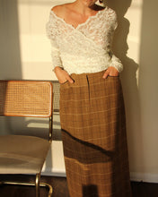 Load image into Gallery viewer, 1970s Harold's Plaid Wool Maxi Skirt