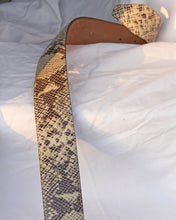 Load image into Gallery viewer, 1990s Snakeskin Wide Leather Waist Belt