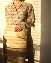 Load image into Gallery viewer, 1980s Cream Leather A Line Skirt