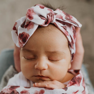 Fleur Top knot Headband for Baby Girl