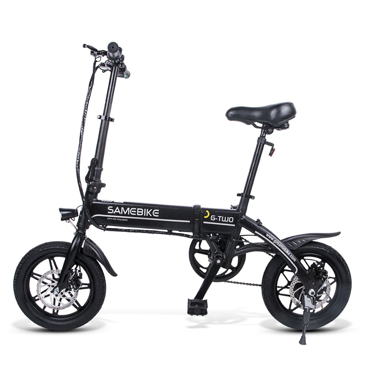 SAMEBIKE YINYU14 Folding Electric Bike 14 Inch Tires 250W Motor 8Ah Battery Max 25 KPH