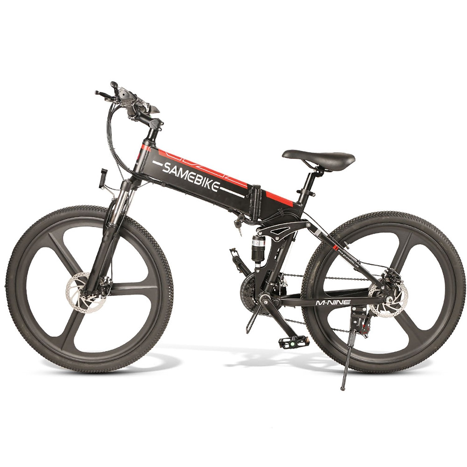 SAMEBIKE LO26 Folding Electric Bike 26 Inch Tires 350W Motor 10.4Ah Battery Max 35 KPH