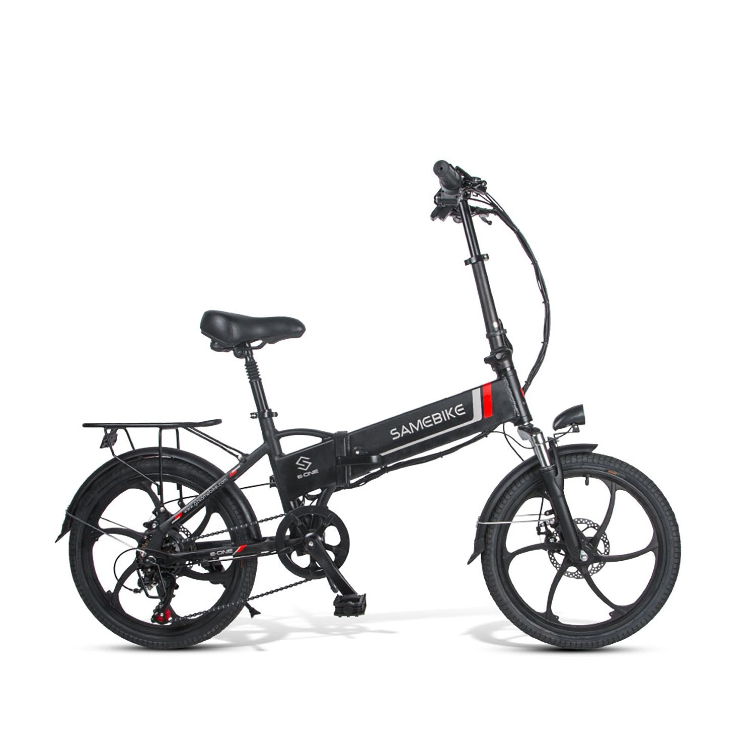 SAMEBIKE 20LVXD30 Folding Electric Bike 20 Inch Tires 350W Motor 10.4Ah Battery Max 35 KPH