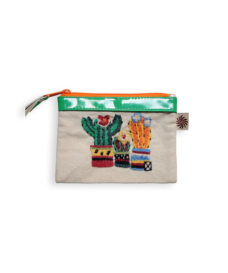Imbaba Cactus Genuine Leather Purse