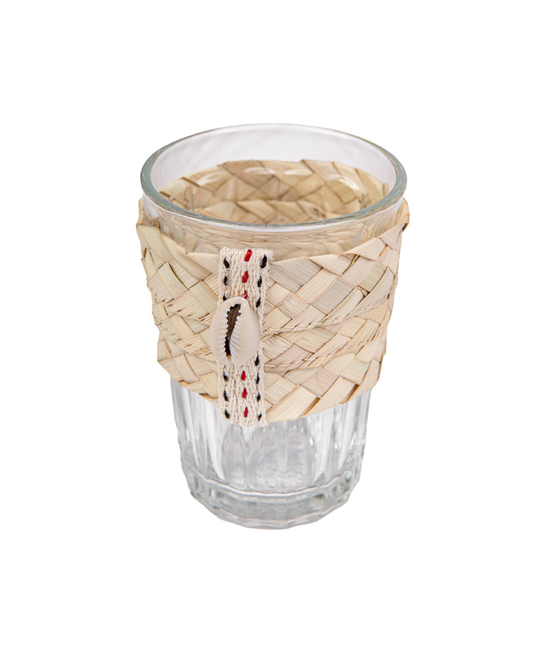 Glass with Straw Handle