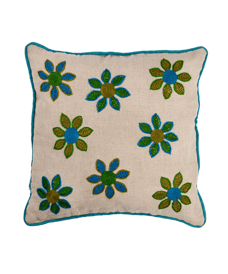 Sinai And Shadaweel Blue Flowers Pillow Case