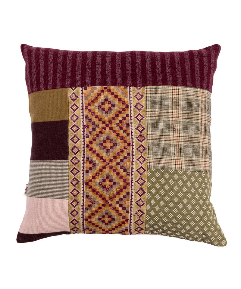 Red Patchwork Pillow Case