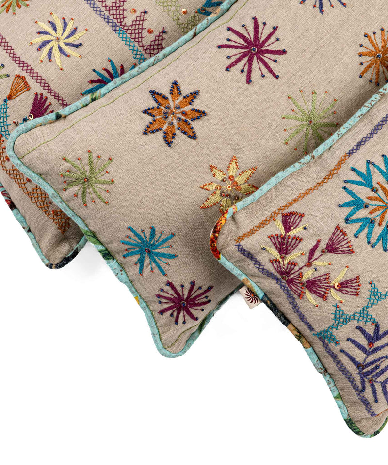 Color Salad Embroidery Wide Pillow Case