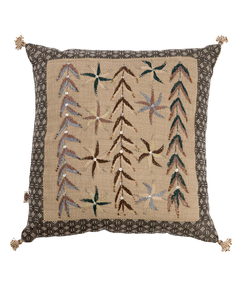 Sinai Awad Square Floral Patchwork Pillow